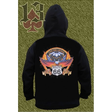 Sudadera con capucha, big twin route 66