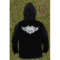 Sudadera con capucha, Route 66 wings