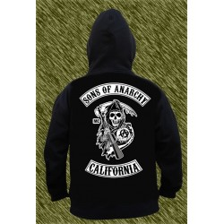 sudadera, Sons of Anarchy, samcro, calavera