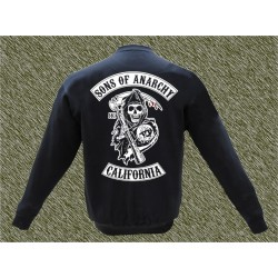 sudadera, Sons of Anarchy, sin capucha