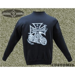 sudadera sin capucha, chopper bike