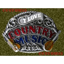hebilla country music