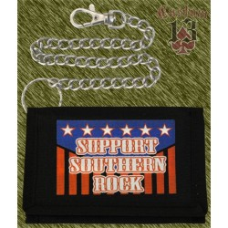 cartera nylon con cadena, support southern rock