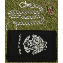 cartera nylon con cadena, Sons of Anarchy