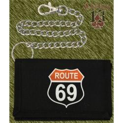 cartera nylon con cadena, Route 69