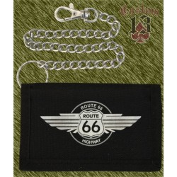 cartera nylon con cadena, Route 66 highway