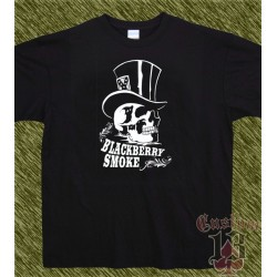 Camiseta negra, blackberry smoke, chistera