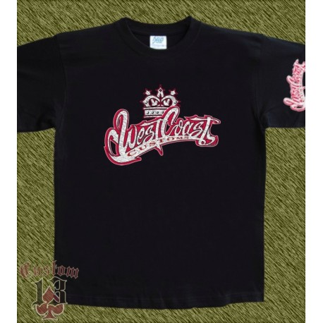Camiseta negra, west coast customs 5