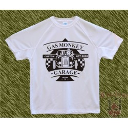 Camiseta blanca, Gas monkey modelo 6