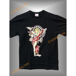 camiseta sailor jerry, pin up bandera