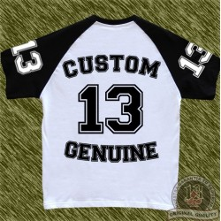 camiseta beisbol, custom 13, team, negra