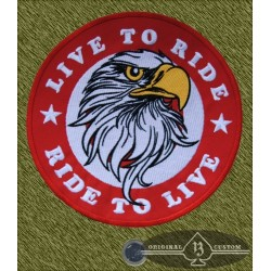 Parche grande, Eagle live to ride, ride to live