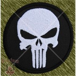 Parche bordado, punisher, redondo