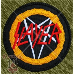 Parche bordado, slayer, redondo