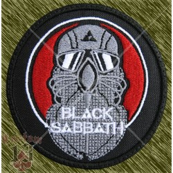 Parche bordado, blac sabbath, never say die