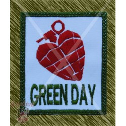 Parche bordado, green day, american idiot