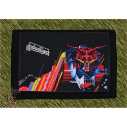 cartera nylon con cadena, judas priest, turbo