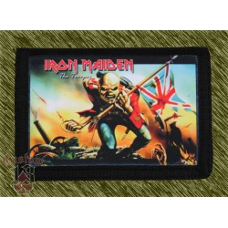 cartera nylon con cadena, iron maiden, the trooper