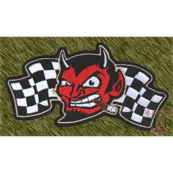 Parche bordado, demon flag