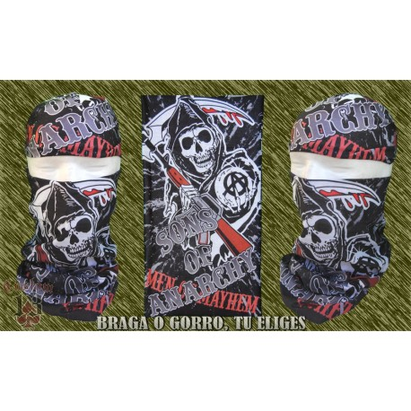 braga microfibra para el cuello, sons of anarchy