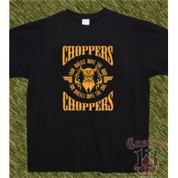 Camiseta negra, chopper two wheels