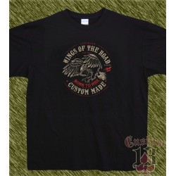 Camiseta negra, wings of the road