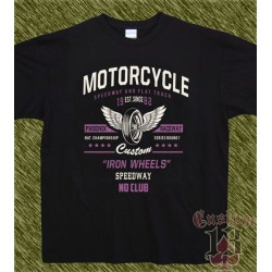 Camiseta negra, iron wheels, no club