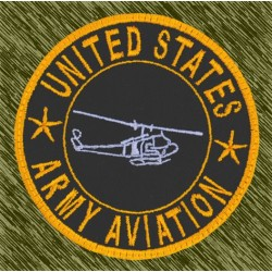 parche bordado, army aviation