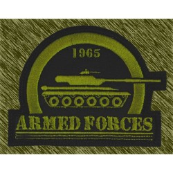 parche bordado, armed forces