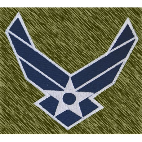 parche bordado, air force