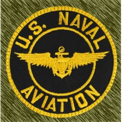 parche bordado, US naval aviation