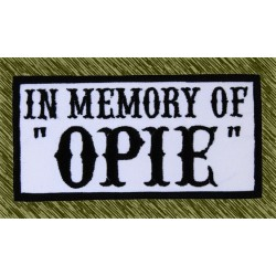 Parche bordado, in memory of opie