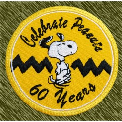 parche bordado, snoopy 60 years