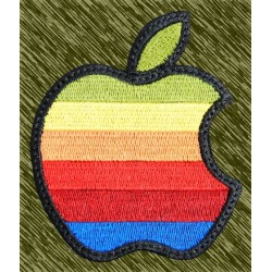 parche bordado, apple color