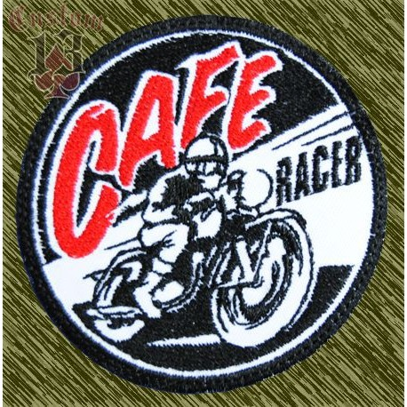 Parche bordado cafe racer moto