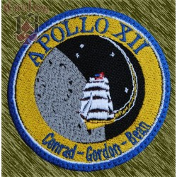 parche bordado, apollo 12