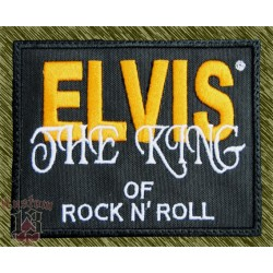 Parche bordado, Elvis, the king of rock and roll