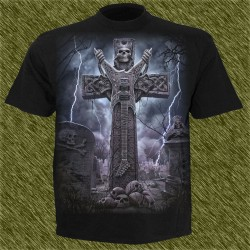 Camiseta dark13, lápida rock