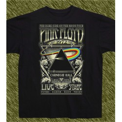 Camiseta negra, Pink Floyd, the dark side of the moon, 1972