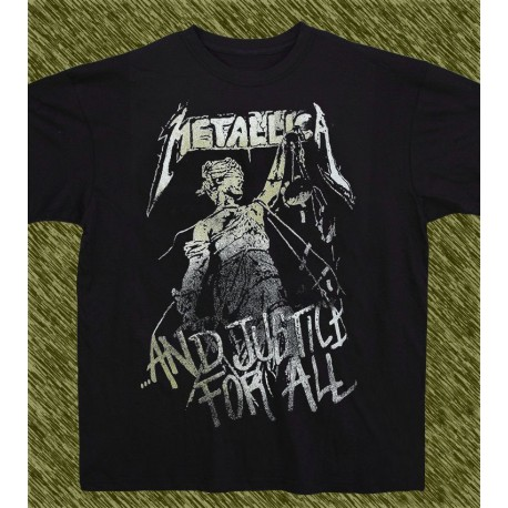 Camiseta negra, Metallica, and justice for all