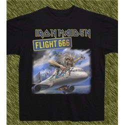 Camiseta negra, Iron Maiden, flight 666