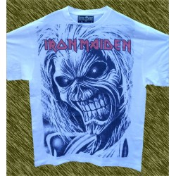 Camiseta blanca, Iron Maiden, killers classic