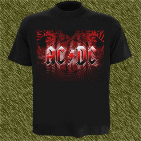 Camiseta negra, AC DC, black ice, new