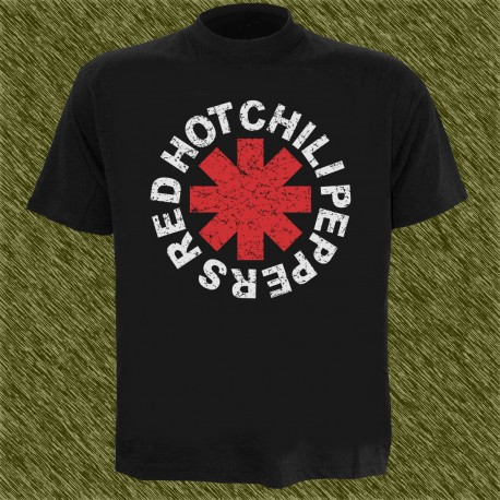 Camiseta negra, Red Hot Chili Peppers, vintage