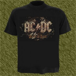 Camiseta negra, AC-DC, rock or bust