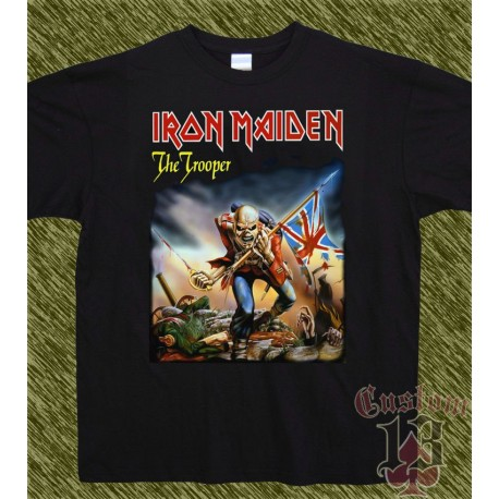 Camiseta negra,iron maiden, the trooper
