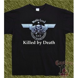 Camiseta negra, motorhead, killed by death