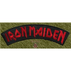 parche bordado para espalda, iron maiden, rocker