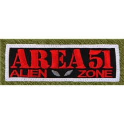 Parche bordado, area 51, alien zone