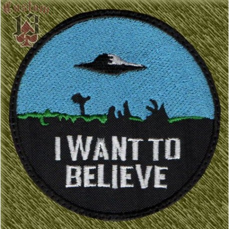 Parche bordado, I want to believe